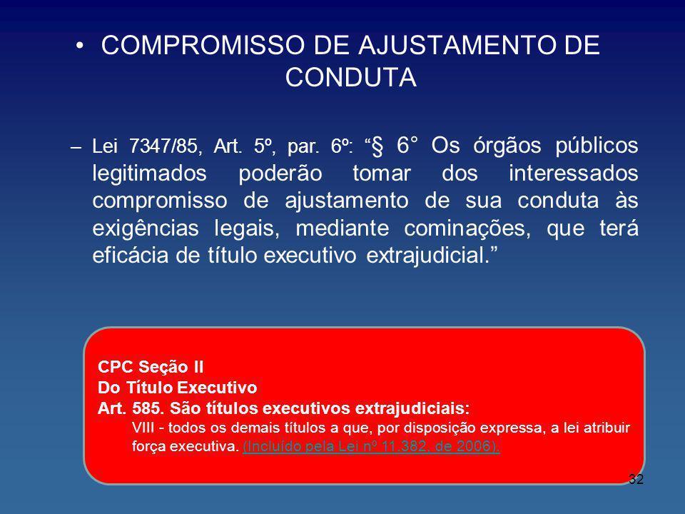 COMPROMISSO DE AJUSTAMENTO DE CONDUTA