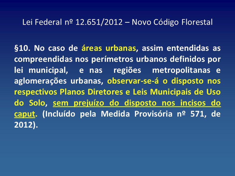 Lei Federal nº 12.651/2012 – Novo Código Florestal
