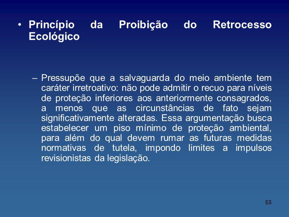 Princípio da Proibição do Retrocesso Ecológico