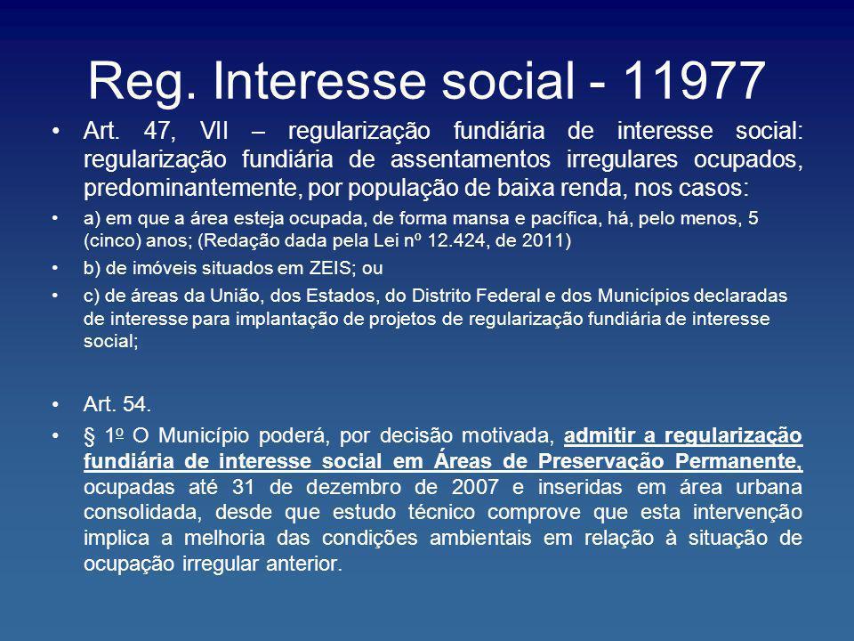 Reg. Interesse social - 11977