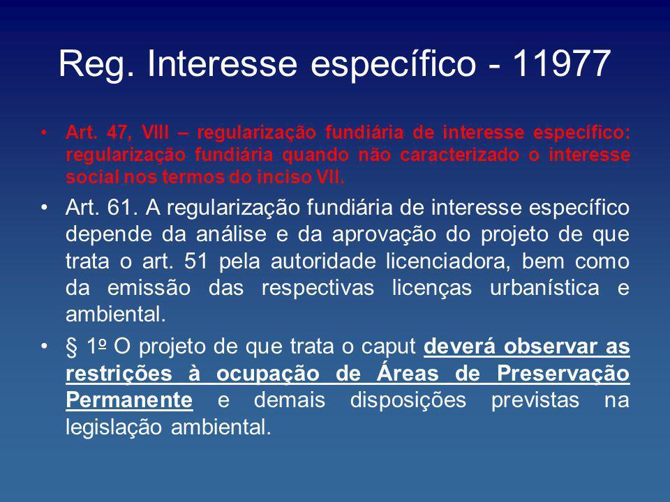 Reg. Interesse específico - 11977