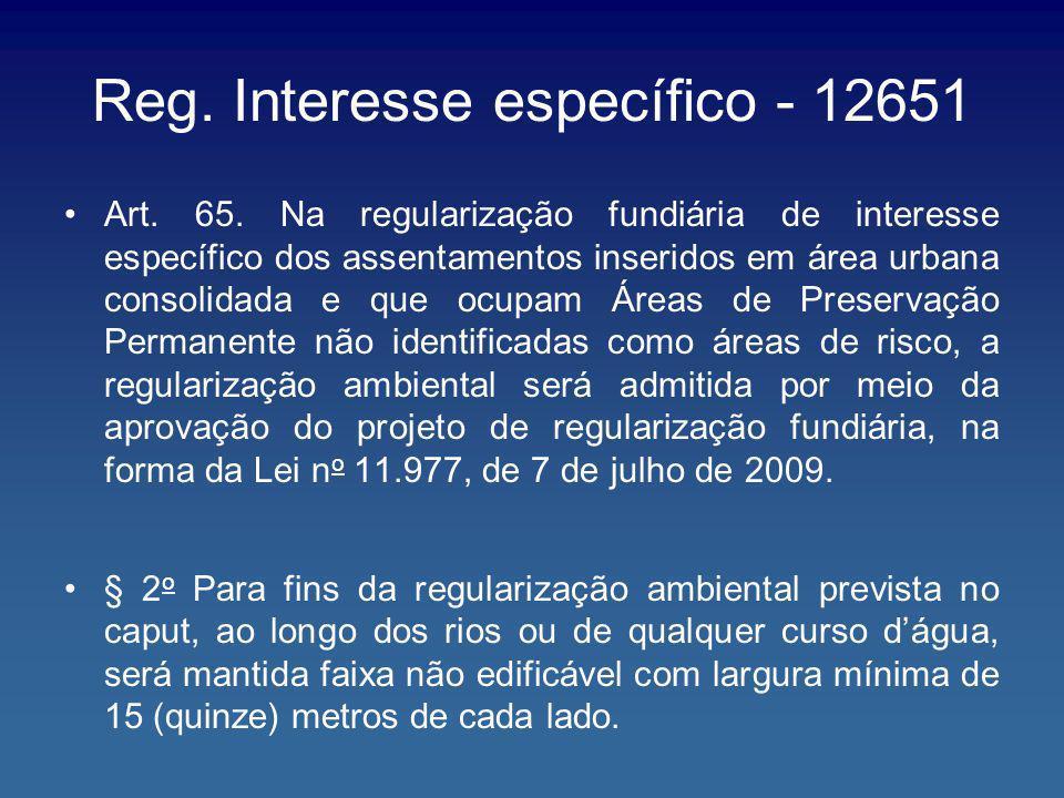 Reg. Interesse específico - 12651
