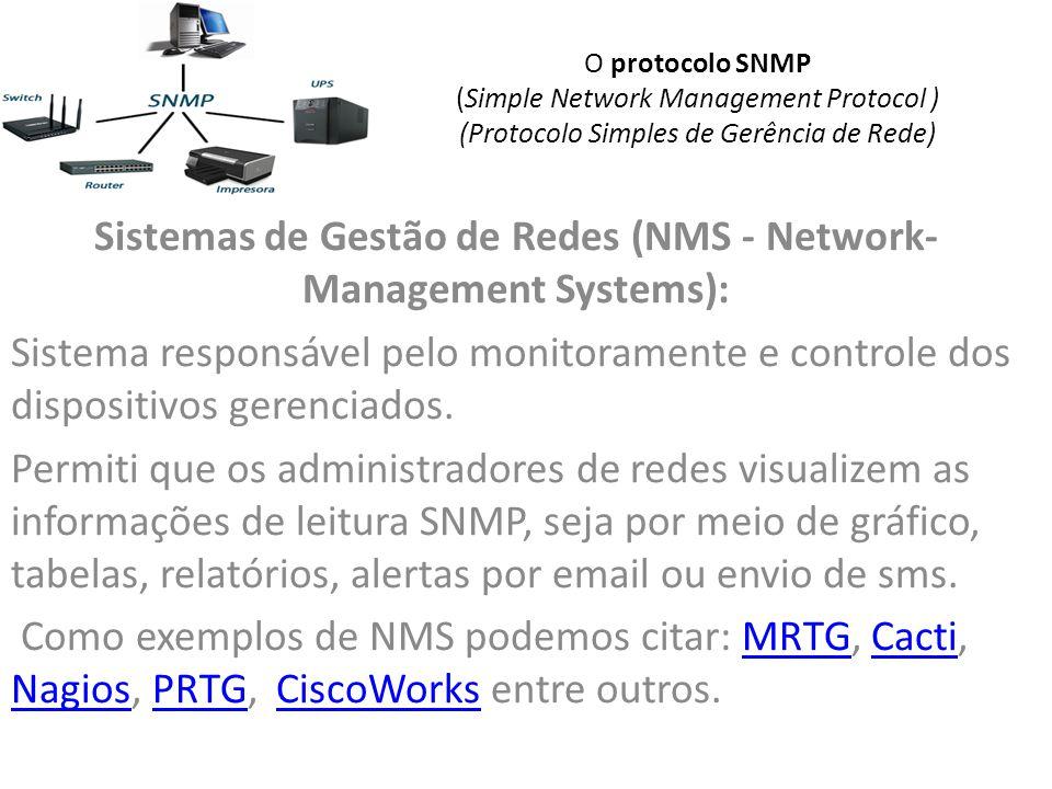 Sistemas de Gestão de Redes (NMS - Network-Management Systems):