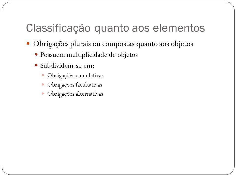 Classificação quanto aos elementos