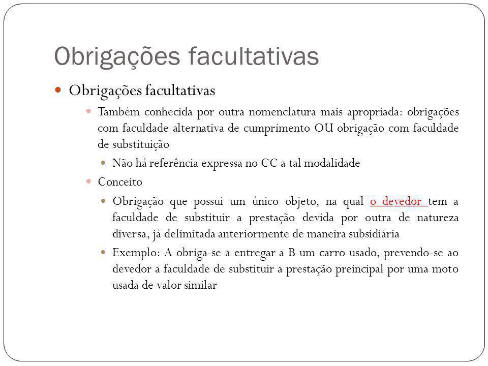 Obrigações facultativas