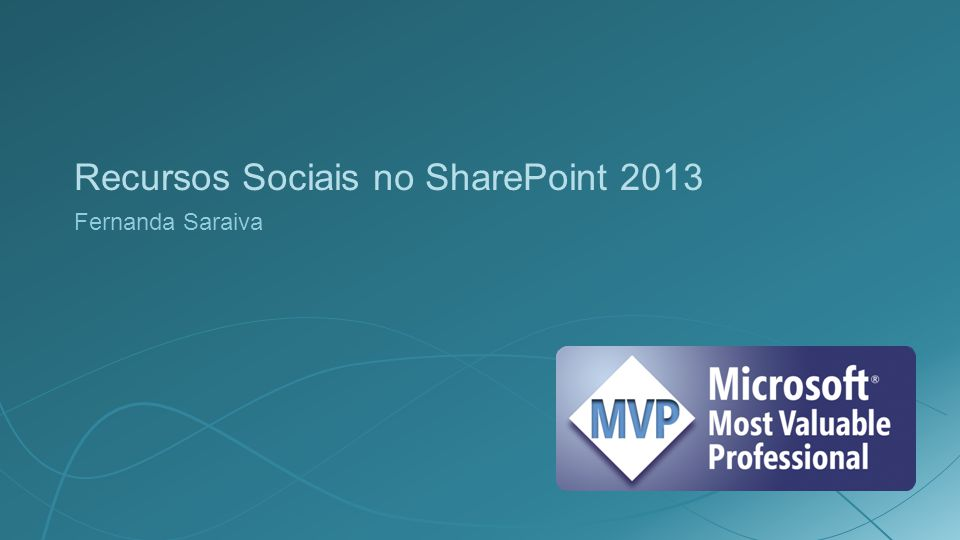 Recursos Sociais no SharePoint 2013