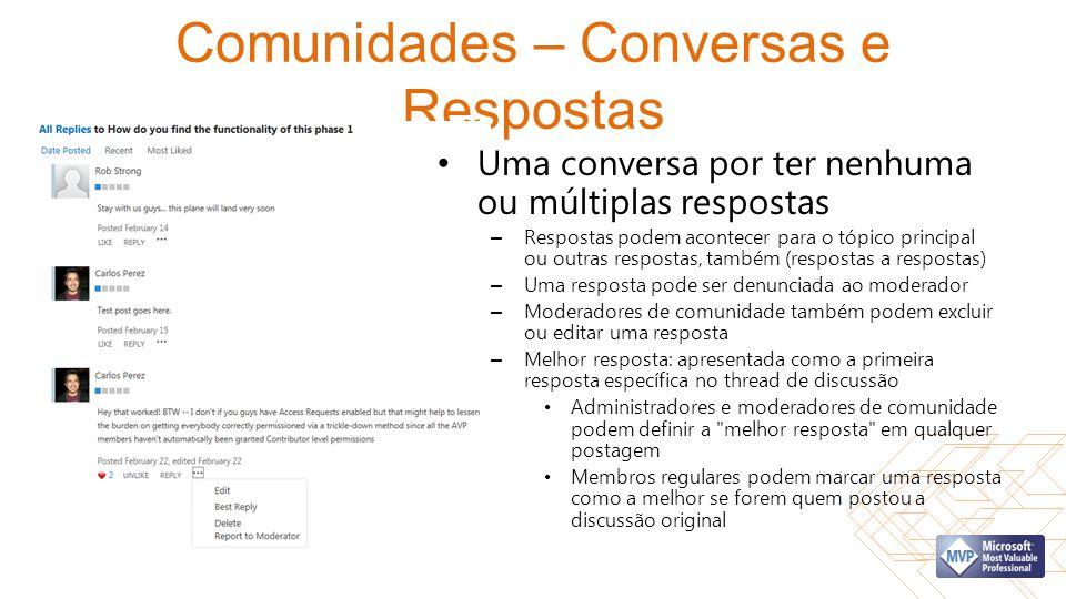 Comunidades – Conversas e Respostas