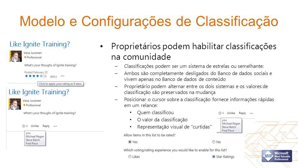 Modelo e Configurações de Classificação