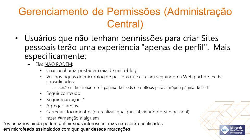 Gerenciamento de Permissões (Administração Central)
