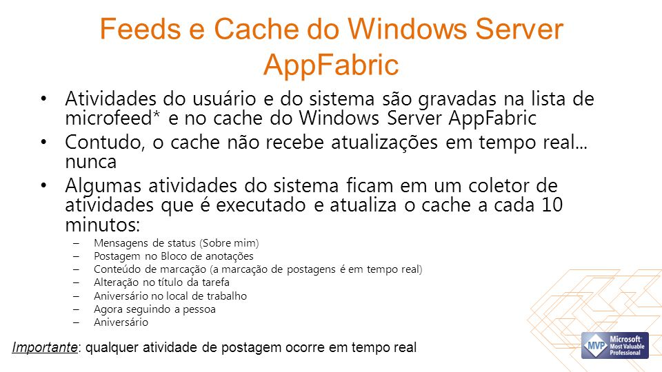 Feeds e Cache do Windows Server AppFabric