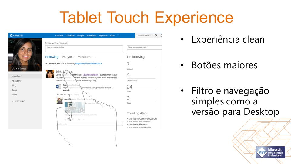 Tablet Touch Experience