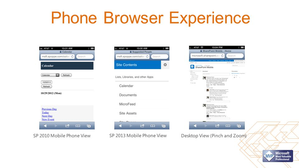 Phone Browser Experience