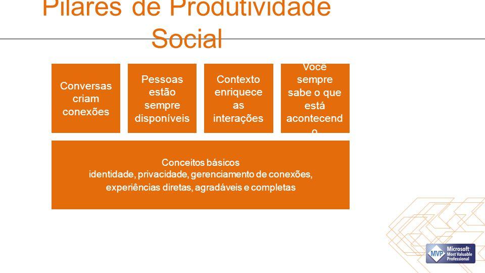Pilares de Produtividade Social