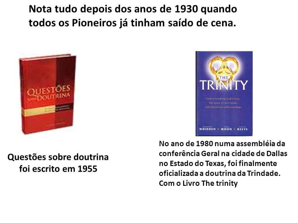 Questões sobre doutrina foi escrito em 1955