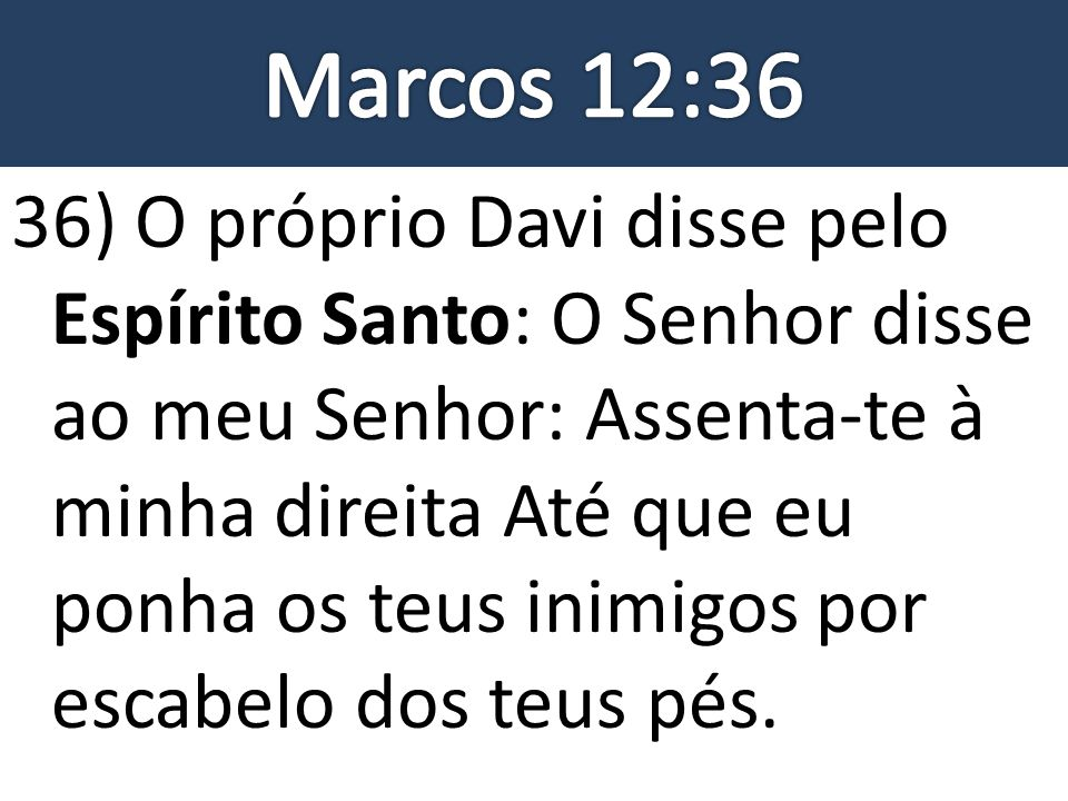 Marcos 12:36