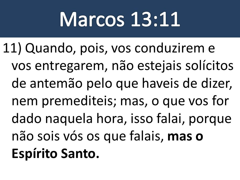Marcos 13:11