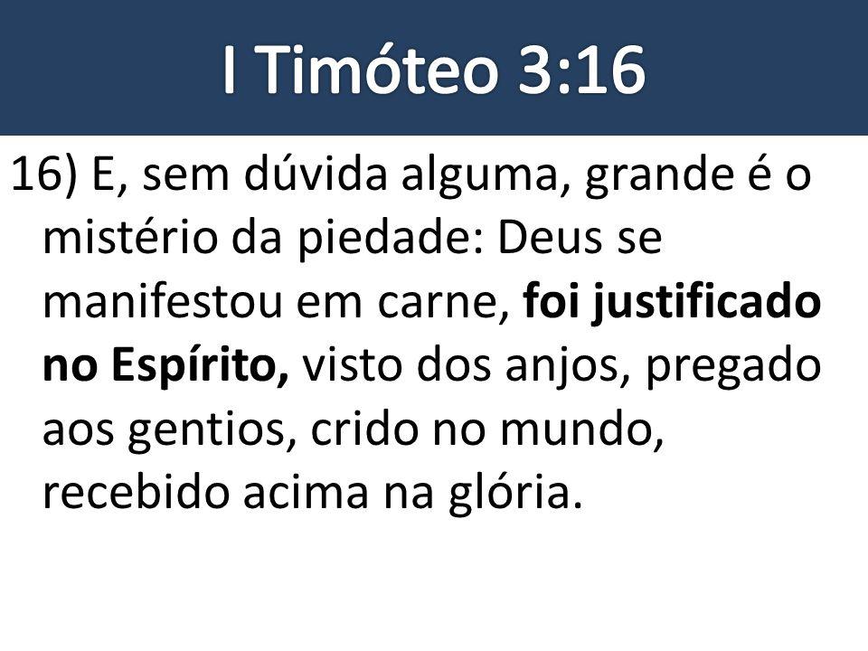 I Timóteo 3:16