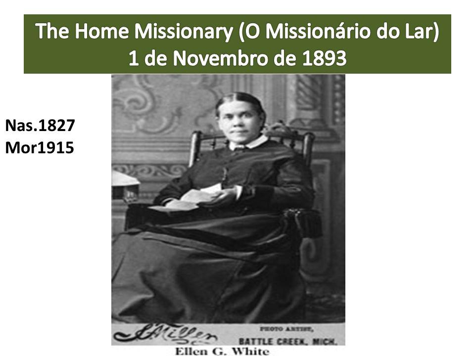 The Home Missionary (O Missionário do Lar) 1 de Novembro de 1893