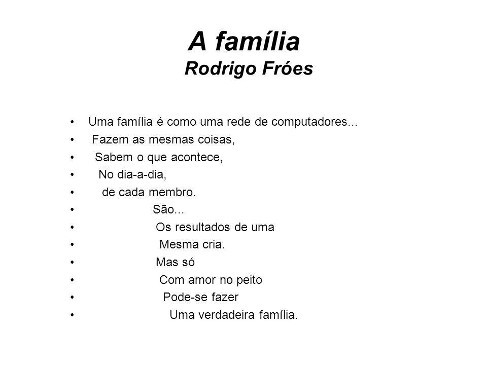 A família Rodrigo Fróes