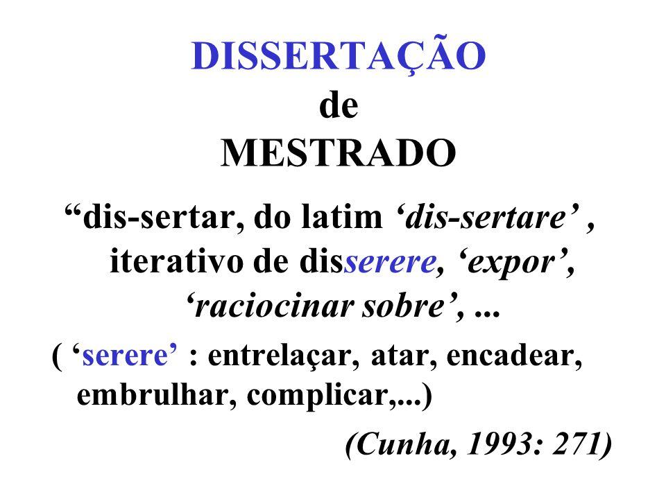 DISSERTAÇÃO de MESTRADO
