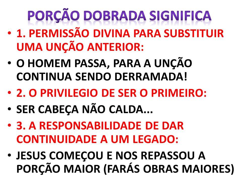 PORÇÃO DOBRADA SIGNIFICA