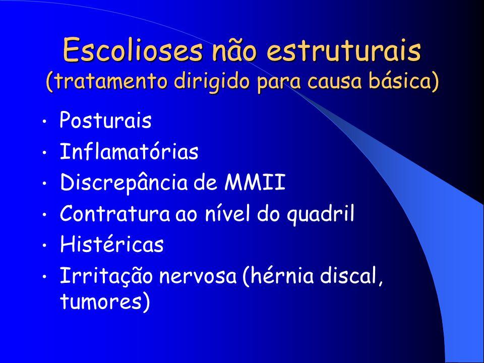Escolioses não estruturais (tratamento dirigido para causa básica)