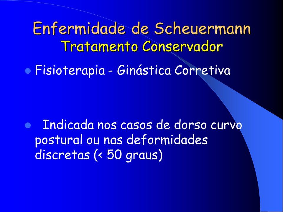 Enfermidade de Scheuermann Tratamento Conservador
