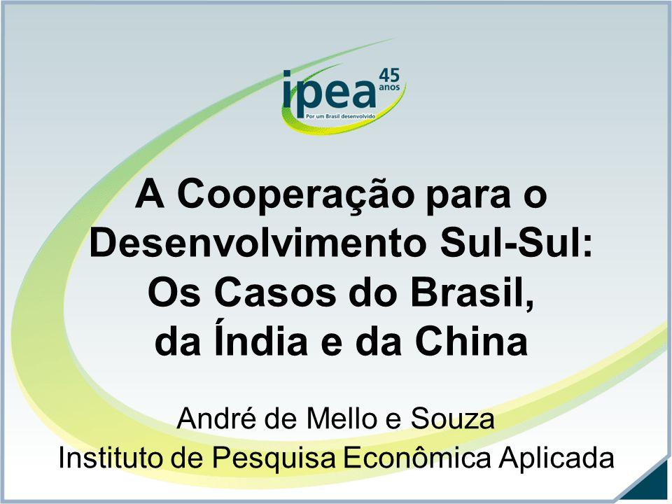 André de Mello e Souza Instituto de Pesquisa Econômica Aplicada