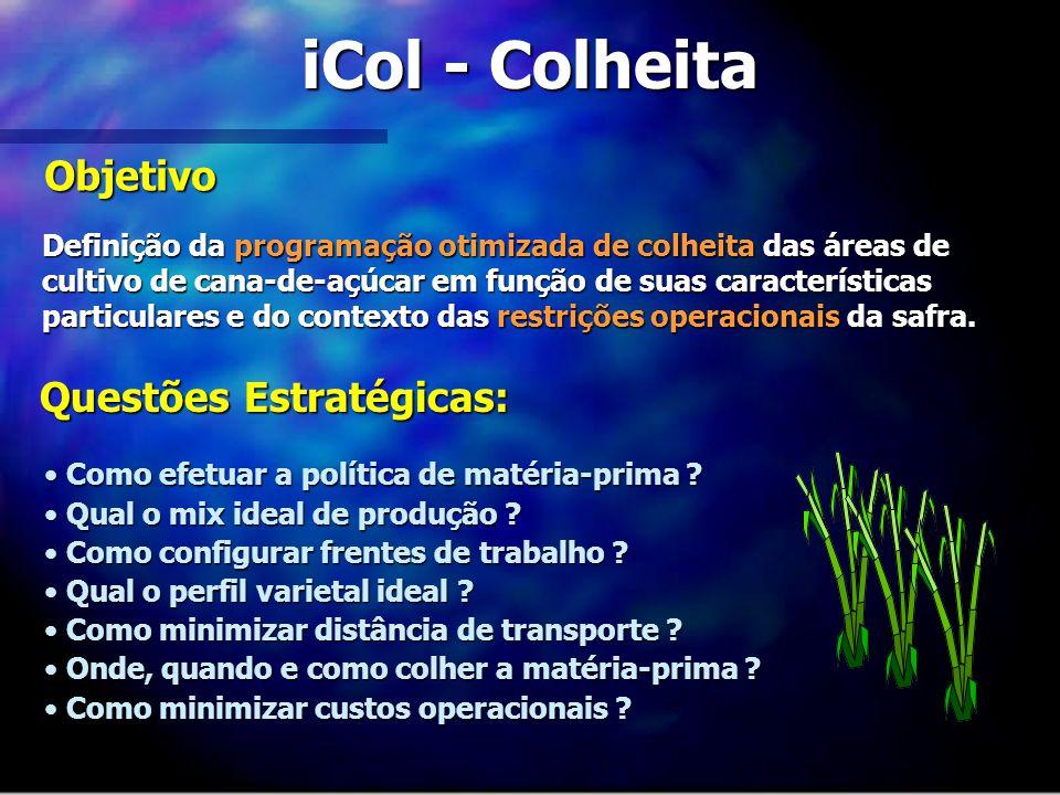 iCol - Colheita Objetivo Questões Estratégicas: