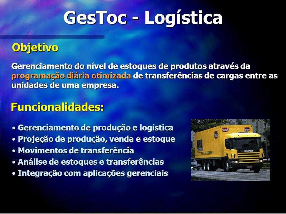 GesToc - Logística Objetivo Funcionalidades: