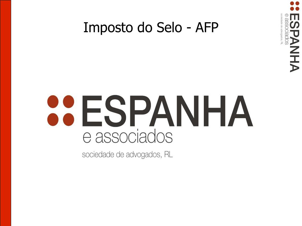 Imposto do Selo - AFP