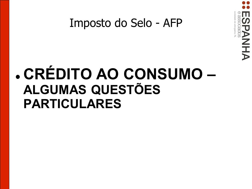 CRÉDITO AO CONSUMO – ALGUMAS QUESTÕES PARTICULARES