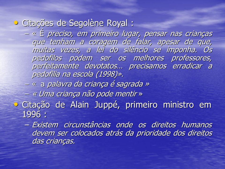 Citações de Segolène Royal :