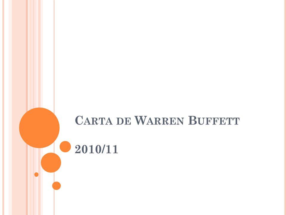 Carta de Warren Buffett 2010/11