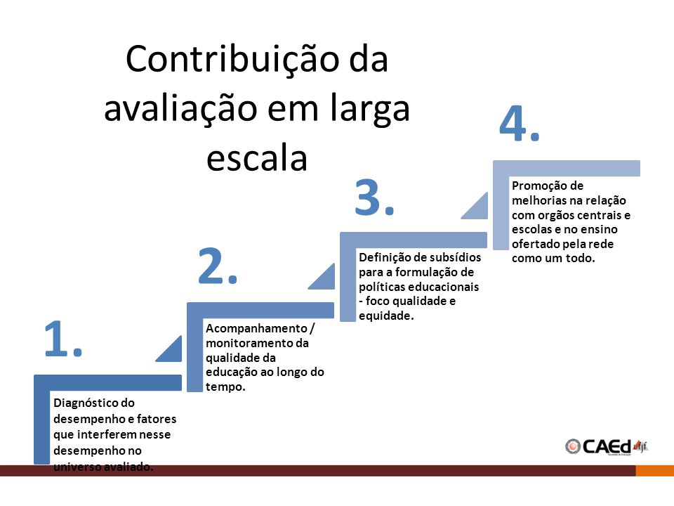 Contribuição da avaliação em larga escala