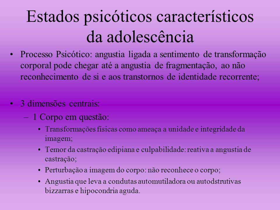 Estados psicóticos característicos da adolescência