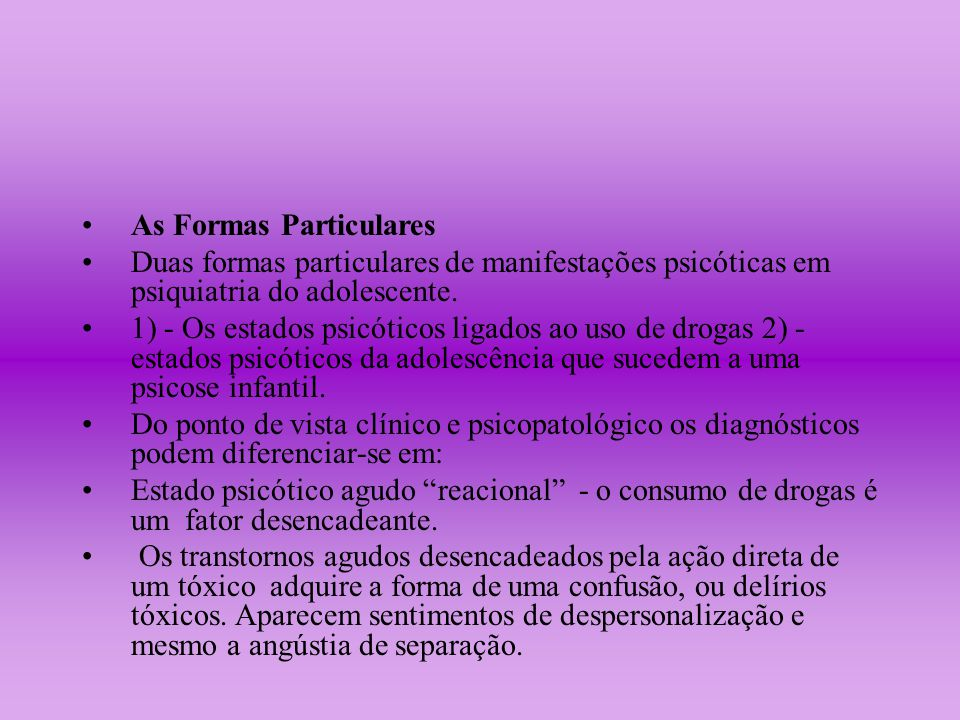 As Formas Particulares