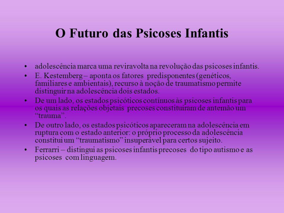 O Futuro das Psicoses Infantis