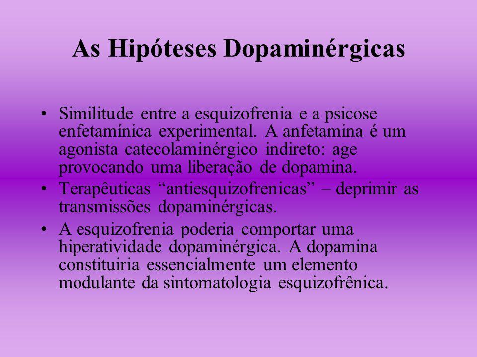 As Hipóteses Dopaminérgicas