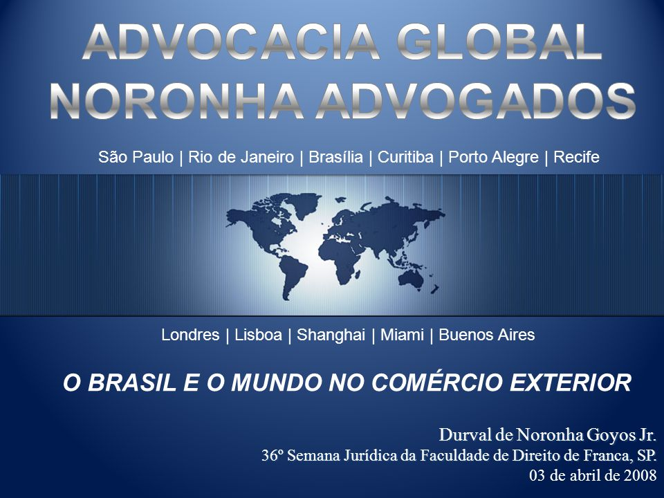 ADVOCACIA GLOBAL NORONHA ADVOGADOS