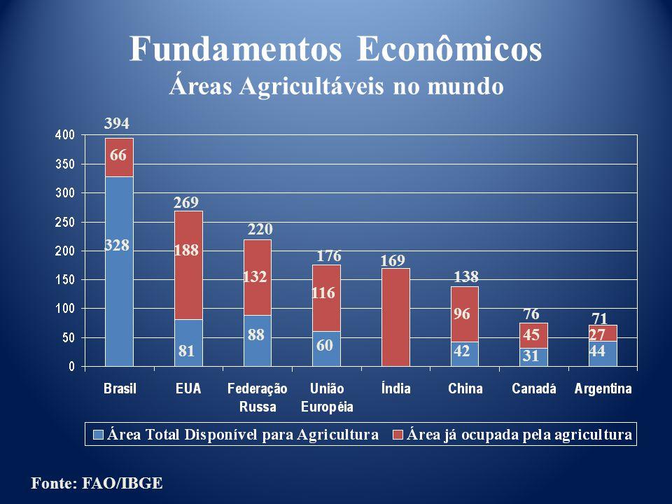 Fundamentos Econômicos Áreas Agricultáveis no mundo