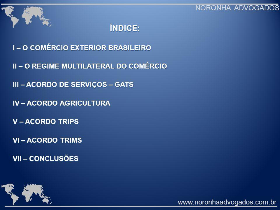 I – O COMÉRCIO EXTERIOR BRASILEIRO