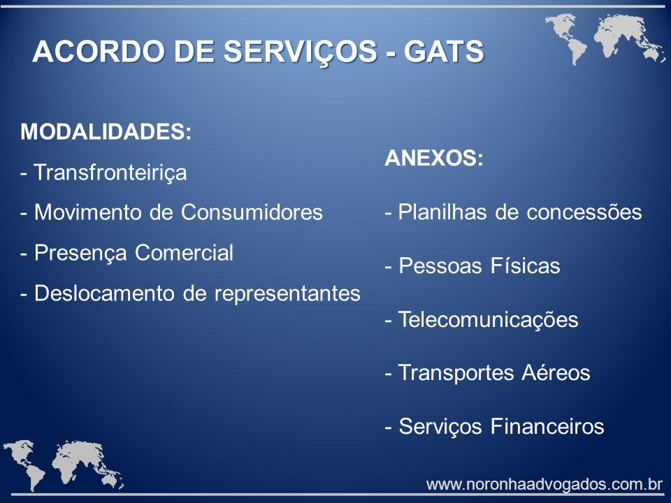 ACORDO DE SERVIÇOS - GATS