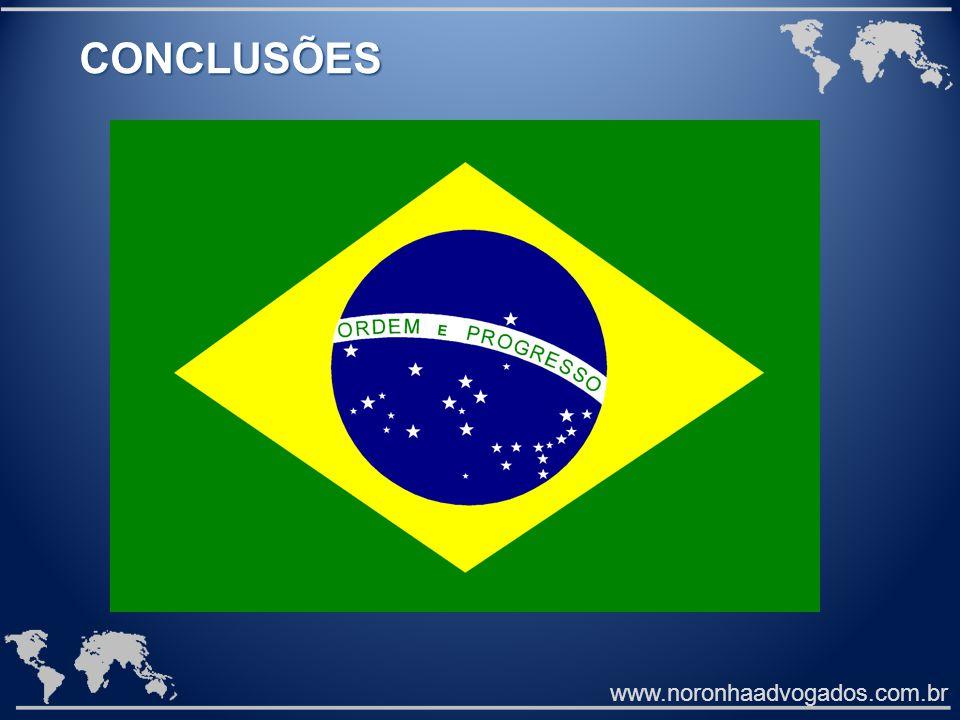 CONCLUSÕES www.noronhaadvogados.com.br
