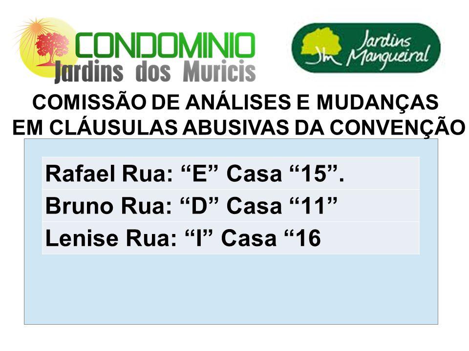 COMISSÃO DE ANÁLISES E MUDANÇAS EM CLÁUSULAS ABUSIVAS DA CONVENÇÃO