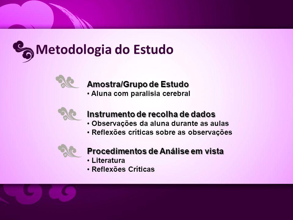 Metodologia do Estudo Amostra/Grupo de Estudo