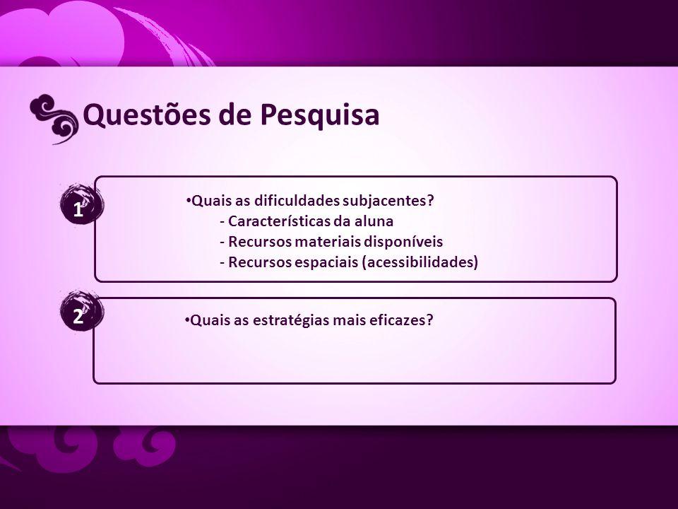 Questões de Pesquisa 1 2 Quais as dificuldades subjacentes