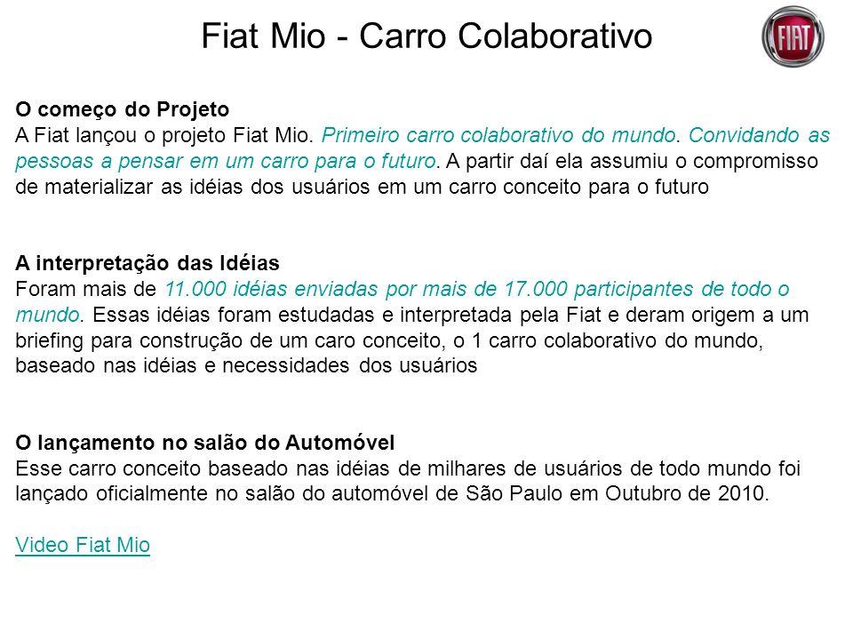 Fiat Mio - Carro Colaborativo