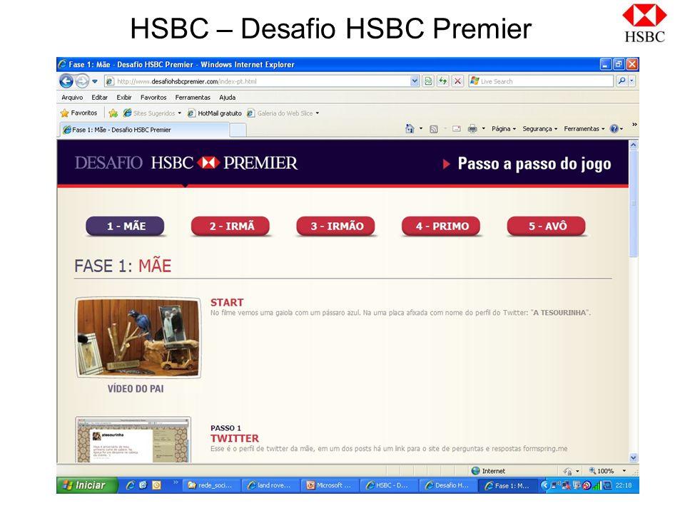 HSBC – Desafio HSBC Premier