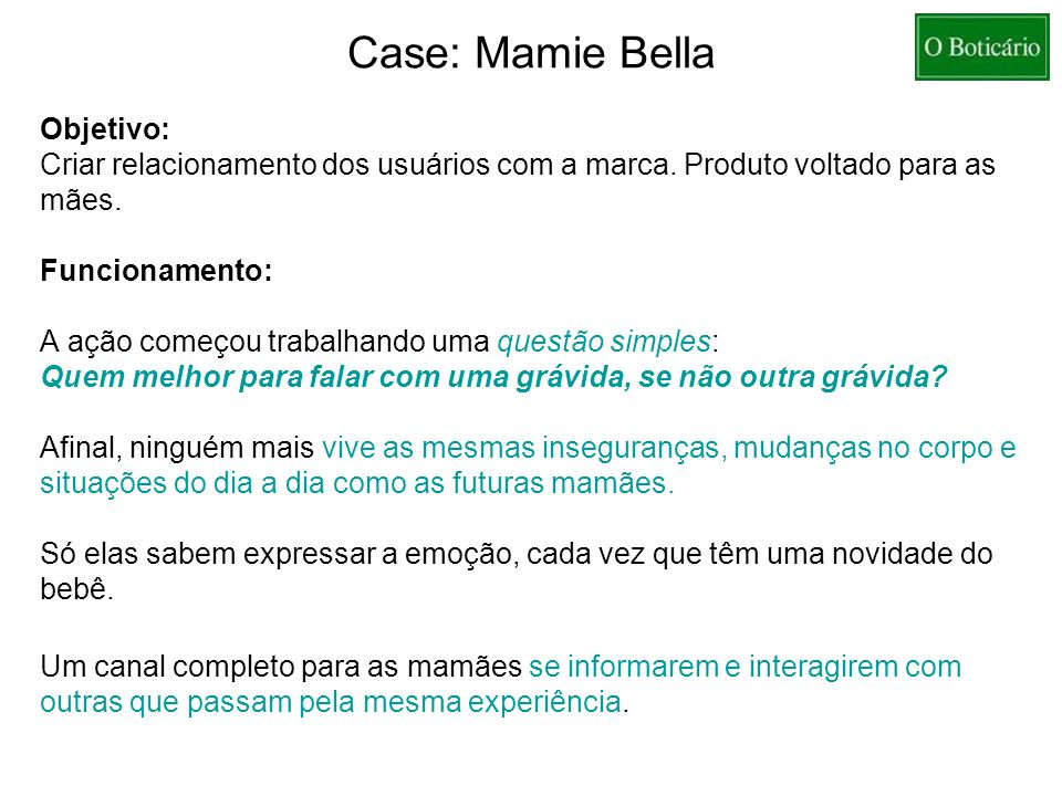 Case: Mamie Bella